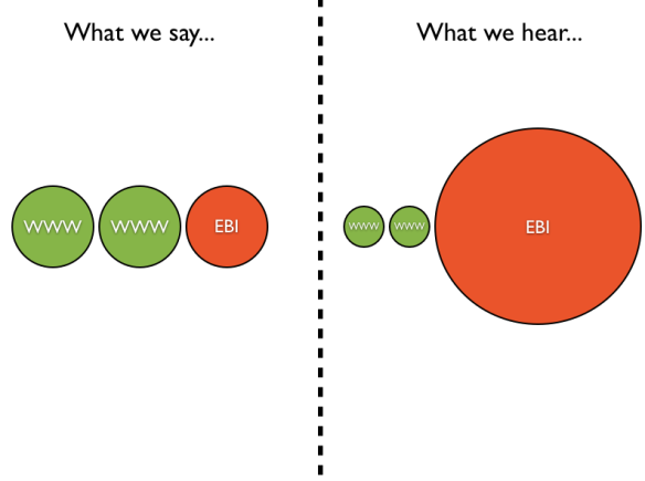 What we say/ what we hear